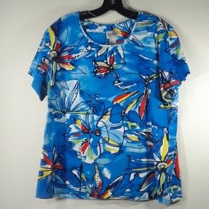 Chico's colorful cotton tee XL